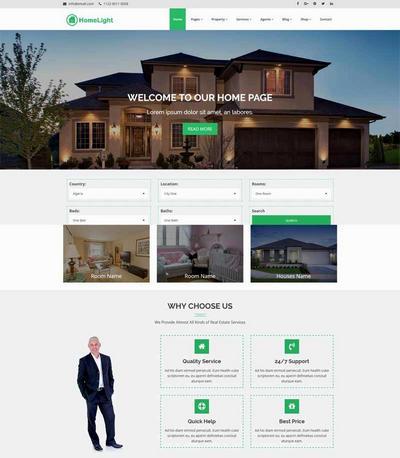网上二手房销售出租html静态网站模板