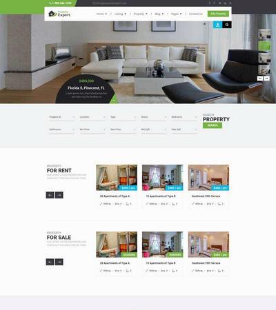 在线房产销售交易平台html静态网站模板