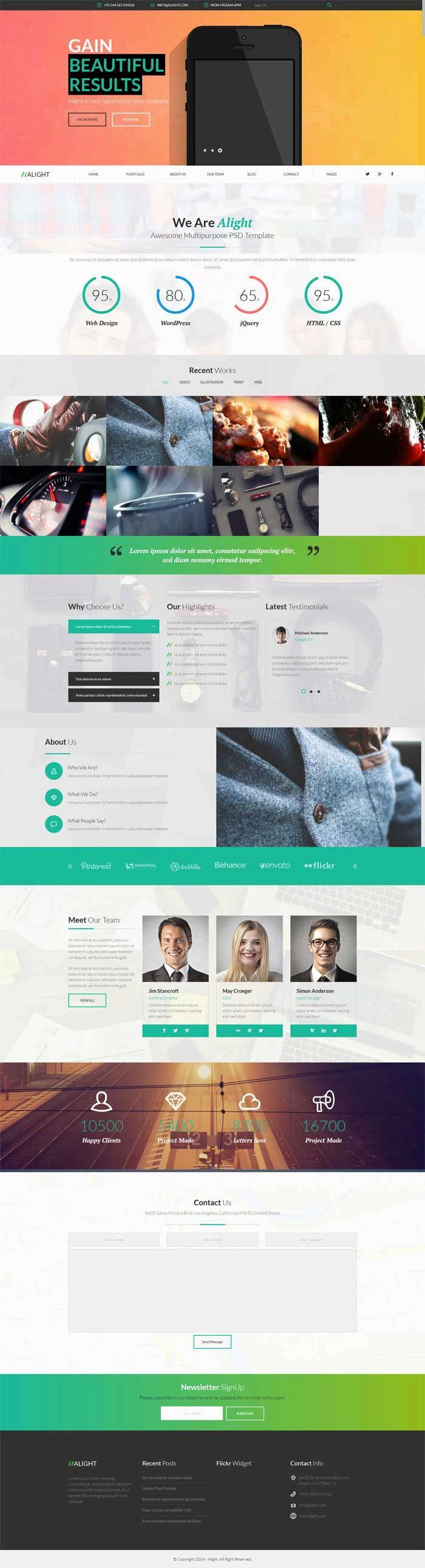 绿色宽屏app网络科技公司网页模板