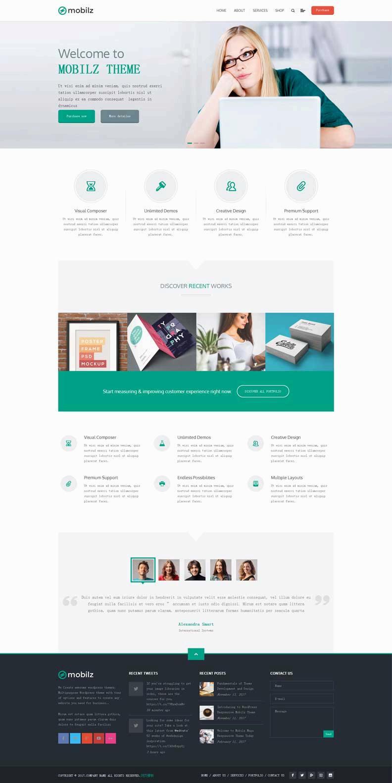 绿色通用的广告设计公司网站html模板