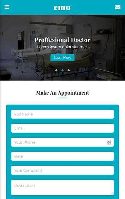 医疗健康服务app手机网页模板