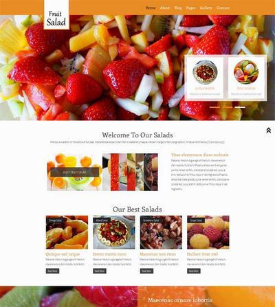 水果甜品店网页静态html模板