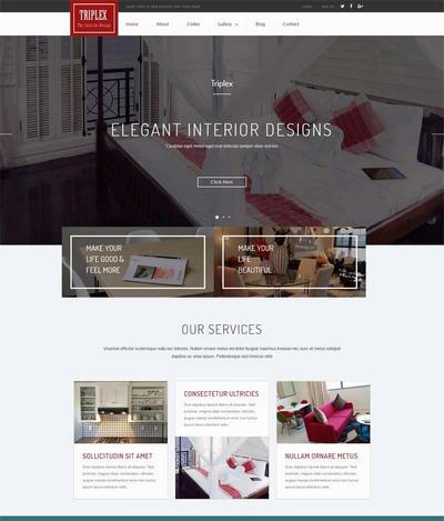 大气国外酒店管理企业网站html模板