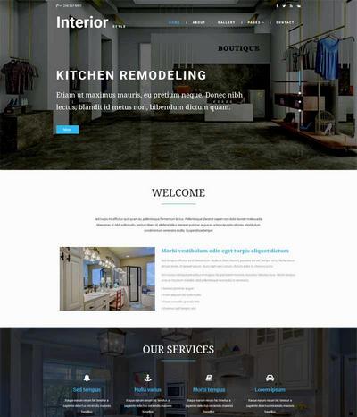 大气室内家居装修设计企业模板html下载