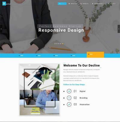 大气宽屏封面vi设计公司网站html模板