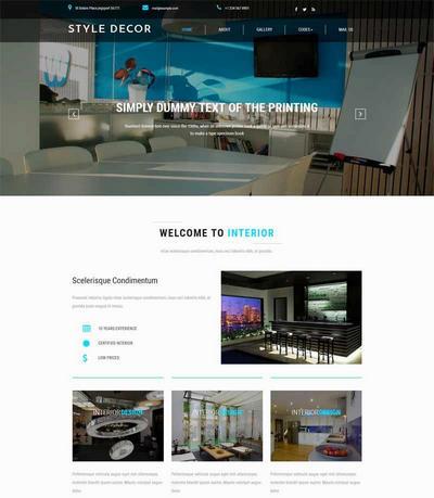 室内装修设计公司网站html模板源码