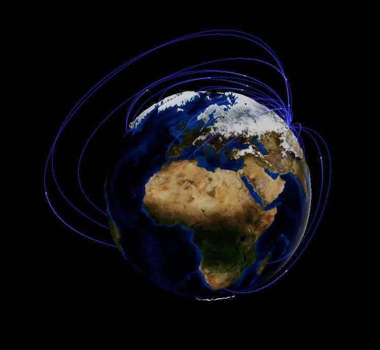 3D互联网地球旋转特效