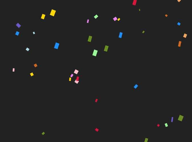 彩色纸屑散落canvas特效