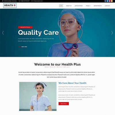 大气妇幼保健医院英文网站html模板