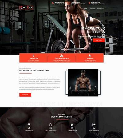 大气运动健身会所网站html模板