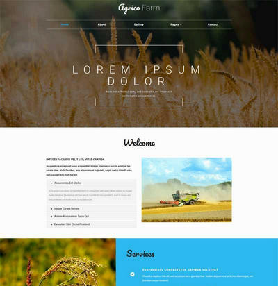简单宽屏稻谷农业生产企业网站ht