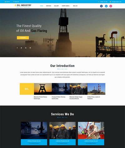 大气实用重工业企业网站模板html整站