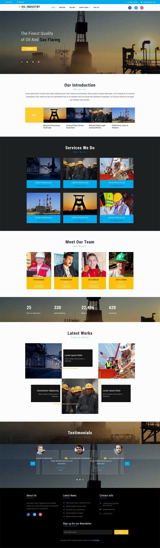 大气实用的重工业企业网站模板html整站