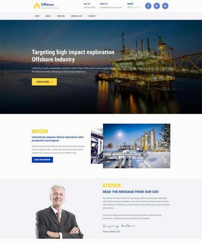 简洁大气机械工业生产企业html网