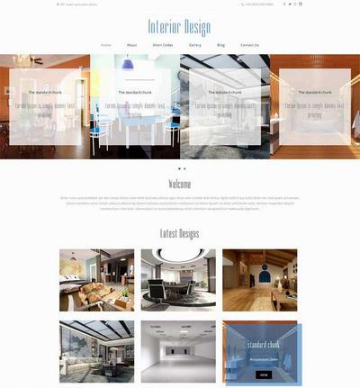 简洁室内装饰设计公司网站静态模