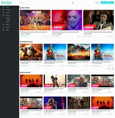 实用视频博客社交类网站模板html