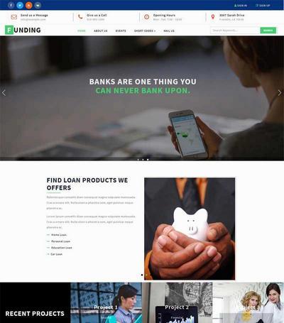 响应式金融投资理财公司html网页模板