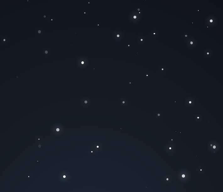 全屏粒子雪花掉落动画特效