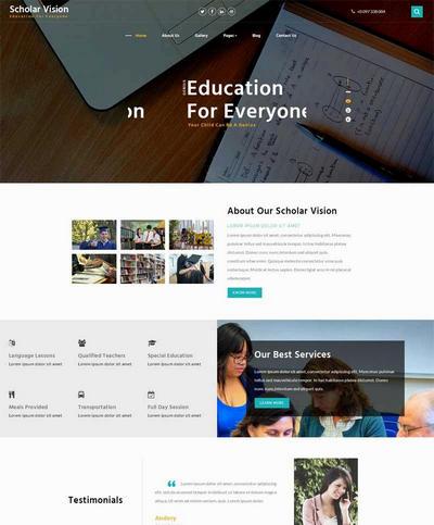 国外高等教育学校网站html全站模板