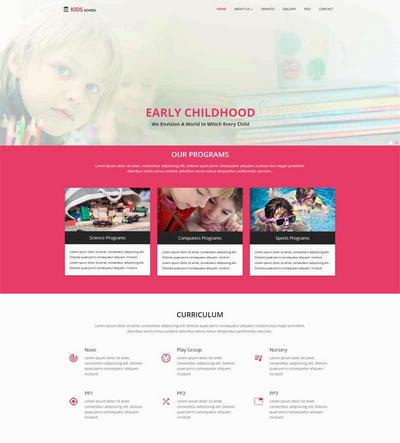 儿童品牌教育培训机构html网站模板