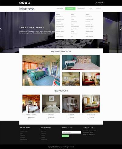 简单酒店网上房间预订网页模板