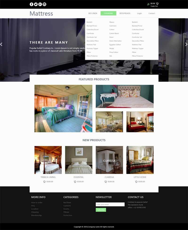 简单的酒店网上房间预订网页模板