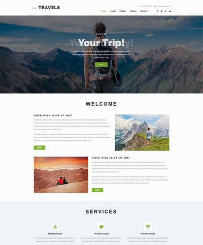简洁自由行旅游公司html静态模板