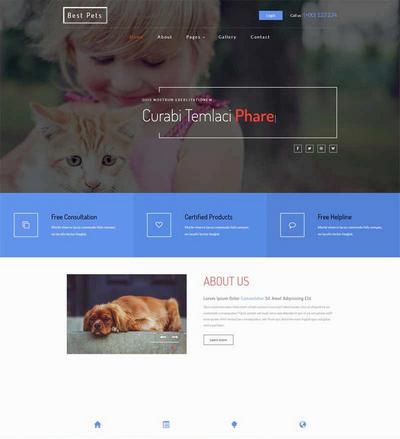 宽屏家庭宠物购买网站模板html下载