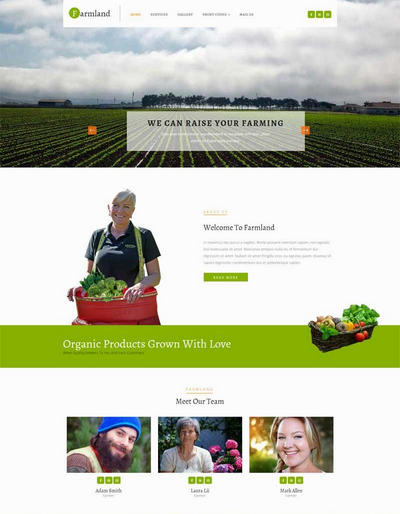 农田蔬菜种植基地html静态网站模板