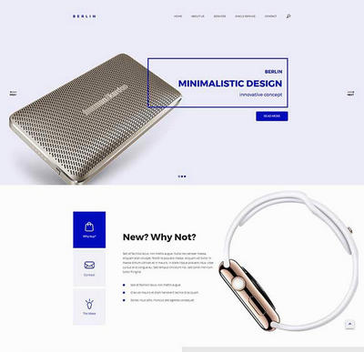 html5创意的电子产品公司html网站模板