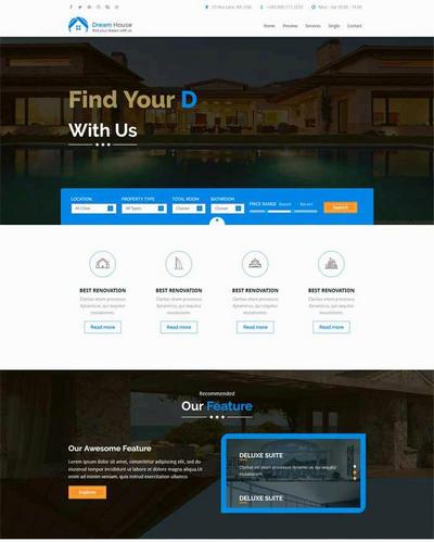 html5大气房产销售html网站模板