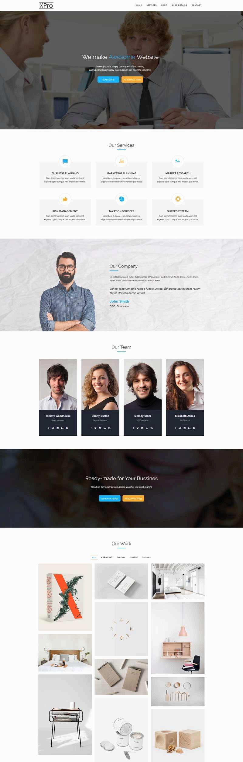 白色简洁的产品创意设计公司网站html模板