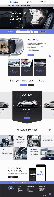 大气的国外汽车租赁公司网站模板