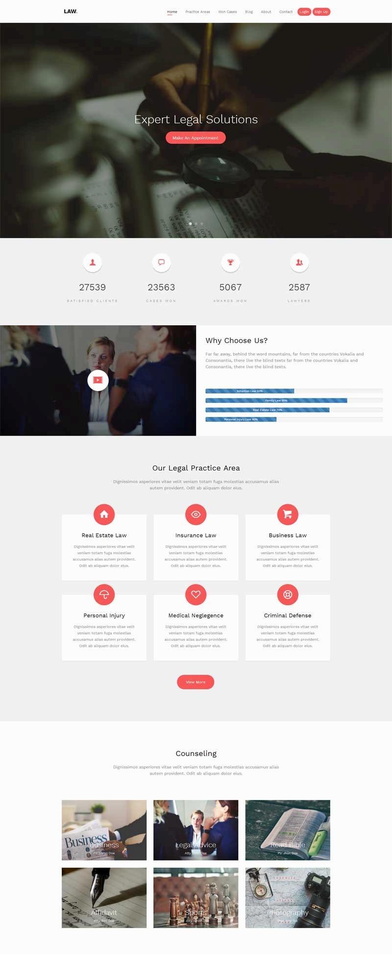 大气的律师事务所网站html5模板