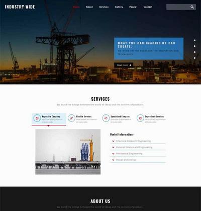 工业制造公司网站html静态模板