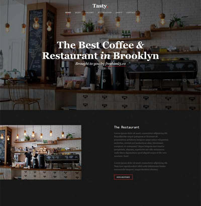 下午茶咖啡店网站html5静态模板