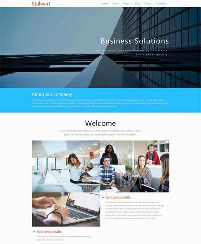 简单金融商务公司网站html模板