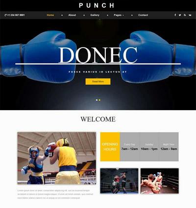 拳击比赛训练俱乐部html网站模板