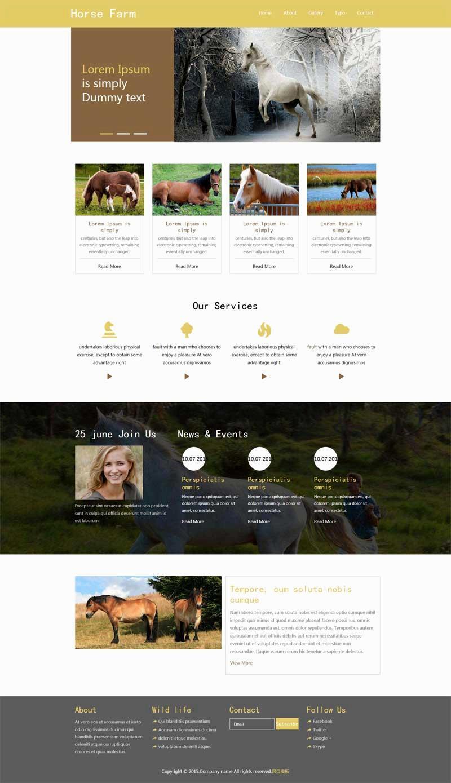 简单的畜牧业养殖场网站模板