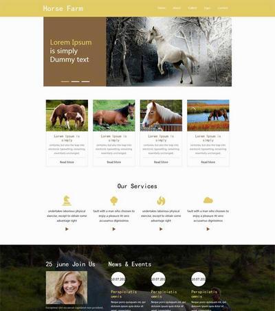 简单畜牧业养殖场html网站模板