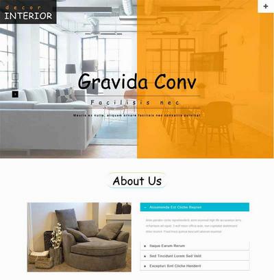 简单室内家具装饰公司html网页模板