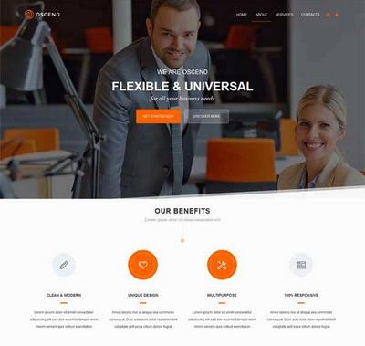 简洁大气广告设计服务公司html5动画模板