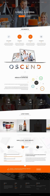简洁大气的广告设计服务公司html5动画模板