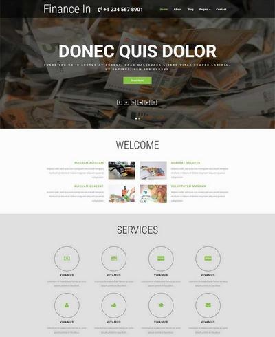 简洁实用金融理财公司html全站模板