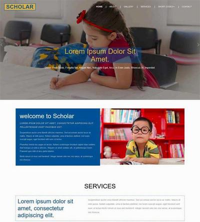 实用儿童教育学校网站html静态模板