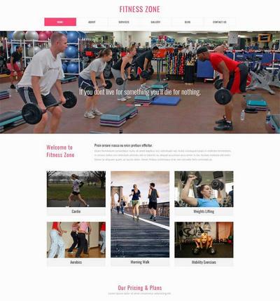 实用运动健身俱乐部网页模板html下载