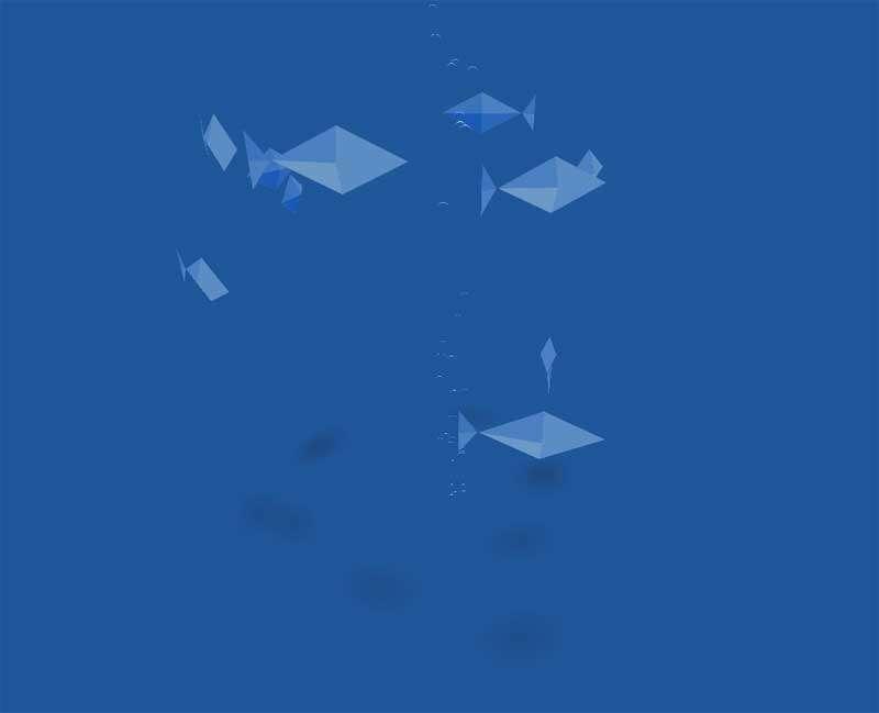 海底泡泡多角鱼动画场景特效
