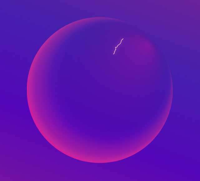 透明的等离子球ui特效