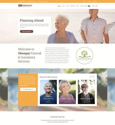 国外养老院网站响应式html页面模板
