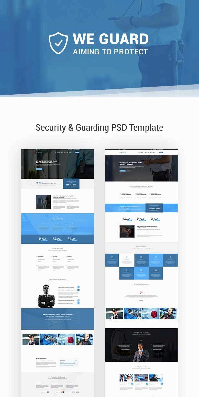 大气的网络安全防护公司网站模板html整站